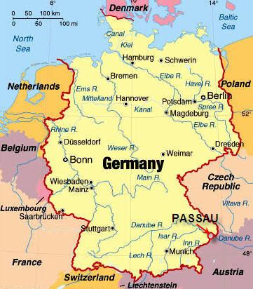 Германия где она находится